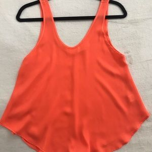 Bright orange / coral tank / blouse